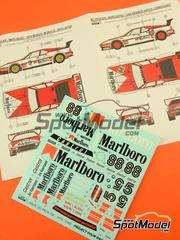 Calcas 1/24 Reji Model - BMW M1 Grupo A Marlboro Procar Nº 88 - John Watson, Niki Lauda - 1000 kilómetros de Brands Hatch, Gran Premio de Monaco 1980 - para kit de Esci y Revell REV07247