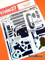Studio27: Patron de fibra de carbono en calca escala 1/24 - Alfa Romeo 155 V6 TI - DTM 1993, 1994 - para kit de Tamiya TAM24137, TAM24148