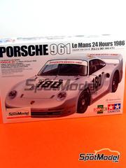 Tamiya: Maqueta de coche escala 1/24 - Porsche 961 Shell Nº 180 - R. Metge + C. Ballot Lena - 24 Horas de Le Mans 1986 - maqueta de plástico