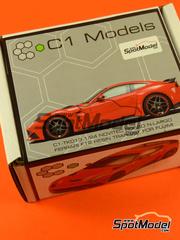 C1 Models: Transkit escala 1/24 - Ferrari F12 Novitec N-Largo - resinas - para kits de Fujimi FJ125626 y FJ125664
