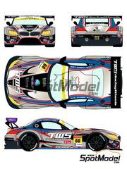 Racing Decals 43: Calcas escala 1/24 - BMW Z4 GT3 LM Corsa Nº 60 - Hiroki Yoshimoto + Akira Iida + Shinya Sato - Copa GT de Japon JGTC 2014 - para kit de Fujimi FJ125930