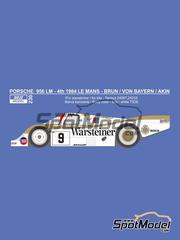 Reji Model: Calcas escala 1/24 - Porsche 956 Warsteiner Nº 9 - Walter Brun + Leopold von Bayern + Bob Akin - 24 Horas de Le Mans 1984 - para kit de Tamiya TAM24309, TAM24314