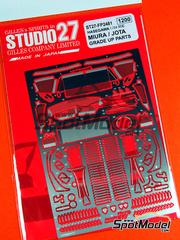 Studio27: Fotograbados escala 1/24 - Lamborghini Miura  y Lamborghini Jota - para kit de Hasegawa 21214