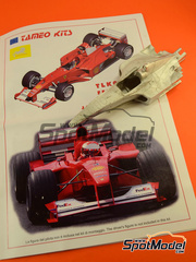 Tameo Kits: Maqueta de coche escala 1/24 - Ferrari F1 2000 Marlboro Nº 3, 4 - Michael Schumacher, Rubens Barrichello - Gran Premio de Japón 2000 - maqueta de metal