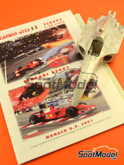 Tameo Kits: Maqueta de coche escala 1/24 - Ferrari F2001 Marlboro Nº 1, 2 - Michael Schumacher, Rubens Barrichello - Gran Premio de Monaco 2001 - maqueta de metal