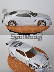 Hobby Design: Transkit escala 1/24 - Nissan GT-R R35 Rocket Bunny - resinas, metal torneado, calcas, fotograbados - para kit de Tamiya TAM24300