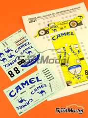 Reji Model: Calcas escala 1/24 - Porsche 962C Joest Racing Camel Nº 8 - Robert