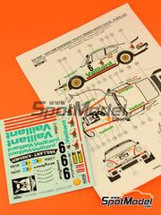 Reji Model: Calcas escala 1/24 - Porsche 934 Turbo RSR Grupo 4 Vaillant Nº 6 - Robert
