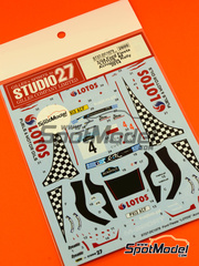 Studio27: Calcas escala 1/24 - Ford Fiesta RS WRC Lotos Nº 4 - Kajetan Kajetanowicz (PL) + Jaroslaw Baran (PL) - Rally de Acropolis 2014 - para kit de Belkits BEL-003