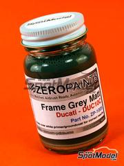 Zero Paints: Pintura - Gris mate para chasis de Ducati - Ducati Frame Grey Matt - Code: DUC10C - 60ml - para Aerógrafo