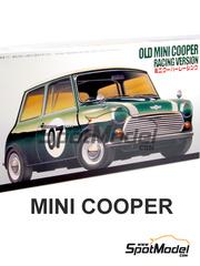 Fujimi: Maqueta de coche escala 1/24 - Mini Cooper Mk I Nº 7 - kit de plastico