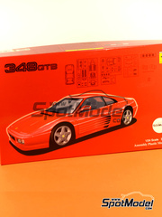 Fujimi: Maqueta de coche escala 1/24 - Ferrari 348GTB - kit de plástico