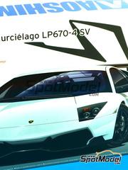 Aoshima: Maqueta de coche escala 1/24 - Lamborghini Murcielago LP670-4 SV SuperVeloce - maqueta de plástico