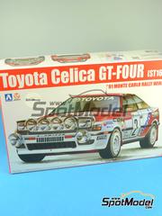 Aoshima: Maqueta de coche escala 1/24 - Toyota Celica GT-Four ST165 Grupo A Repsol Nº 2 - Carlos Sainz (ES) + Luis Moya (ES) - Rally de Montecarlo 1991 - maqueta de plástico