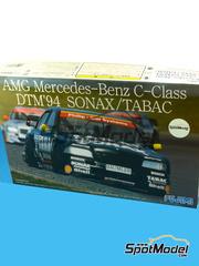 Fujimi: Maqueta de coche escala 1/24 - Mercedes Benz AMG C-Class Sonax Tabac Nº 3, 4 - Roland Asch (DE) + Bernd Schneider (DE) - DTM 1994 - maqueta de plástico