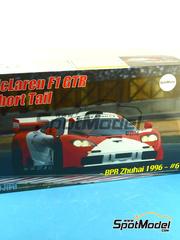 Fujimi: Maqueta de coche escala 1/24 - McLaren F1 GTR Marlboro Nº 6 - Owen Jones (US) + Pierre-Henri Raphanel (FR) + David Brabham (AU) - BPR Zhuhai 1996 - maqueta de plástico