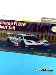 Fujimi: Maqueta de coche escala 1/24 - McLaren F1 GTR Cola Corta West FM Nº 49 - 24 Horas de Le Mans 1995 - maqueta de plástico