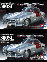 Tamiya: Maqueta de coche escala 1/24 - Mercedes-Benz 300SL - para maqueta de plástico
