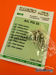 Tameo Kits: Figura escala 1/43 - Piloto de F1 sentado - metal blanco - 2 unidades
