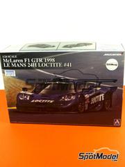 Aoshima: Maqueta escala 1/24 - McLaren F1 GTR Long Tail Loctite Nº 41 - 24 Horas de Le Mans 1998 - maqueta de plástico