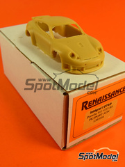 Renaissance Models: Maqueta de coche escala 1/43 - Porsche 911 GT3 RS PK Sport AON Nº 78 - David Warnock (GB) - 24 Horas de Le Mans 2004 - maqueta de resina