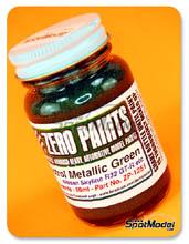 Pintura Zero Paints - Verde metalizado Castrol - Castrol Metallic Green - 60 ml para Aerógrafo