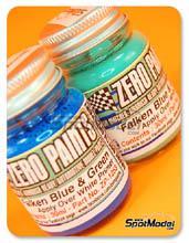 Set de Pintura Zero Paints - Equipo Falken - Azul y verder - Team Falken - Green and Blue paints - 2 x 30ml para Aerógrafo