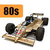 Car scale model kits / F1 cars / 1/20 scale / 80 years