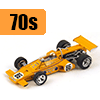 Car scale model kits / F1 cars / 1/20 scale / 70 years