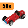 Car scale model kits / F1 cars / 1/20 scale / 50s years