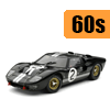Car scale model kits / GT cars / 24 Hours Le Mans / 60s years