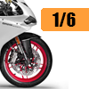 Motorcycle scale model kits / 1/6 scale