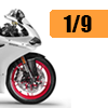 Motorcycle scale model kits / 1/9 scale: New products image