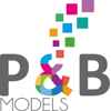 P and B Models logo