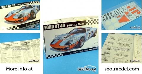 Graham HILL Brian Muir 1966 GT40 MK II Le Mans #7 Eau Transfert Décalcomanies