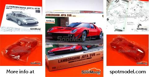 Hasegawa Model Car Kit 1 24 Scale Lamborghini Jota Svr 1975 Ref