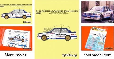 Reji Model Marking Livery 1 24 Scale Bmw M3 E Pep Bassas Es Antonio Rodriguez Es Principe De Asturias Rally 1989 For Beemax