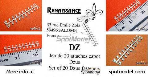 SpotModel | Renaissance Models: Detail 1/43 scale - Dzus fasteners - 20  units (ref  DZ)