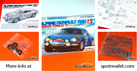 Tamiya Model Car Kit 124 Scale Renault Alpine A110 28 Ove