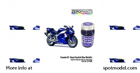 SpotModel   Zero Paints: Paint Yamaha R1 Deep purplish blue metallic 1 x  60ml for Tamiya references TAM14133, 14133, HC-14133, 4950344141333 and