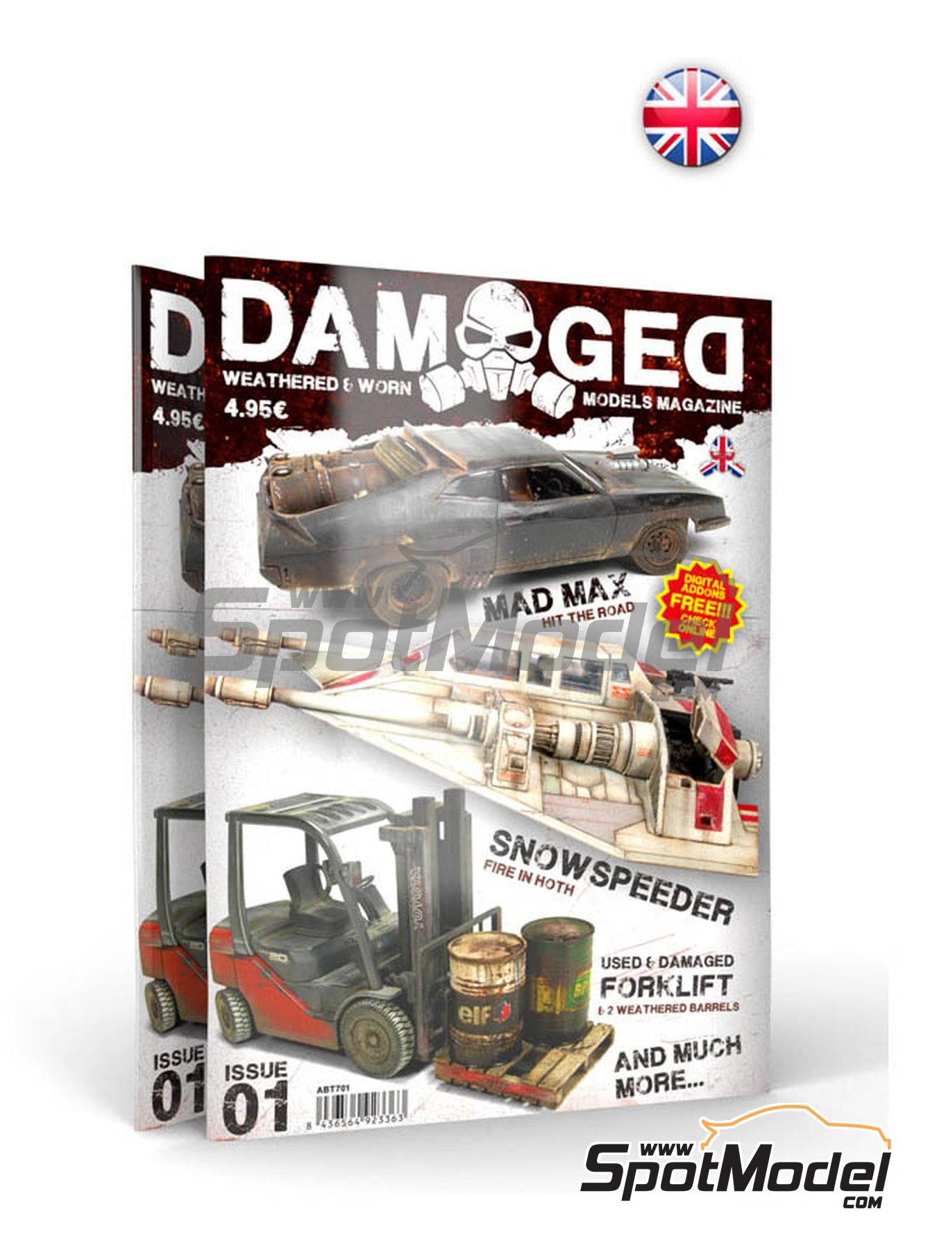 Damaged - Weathered and worn: Number 1 - english edition | Magazine manufactured by AK Interactive (ref. ABT701) image