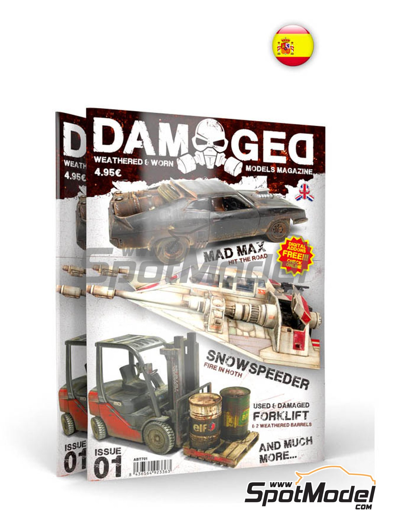 Damaged - Weathered and worn: Number 1 - spanish edition | Magazine manufactured by AK Interactive (ref. ABT702) image