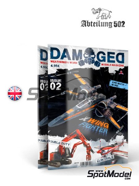 Damaged - Weathered and worn: Number 2 - english edition | Magazine manufactured by AK Interactive (ref.ABT703) image