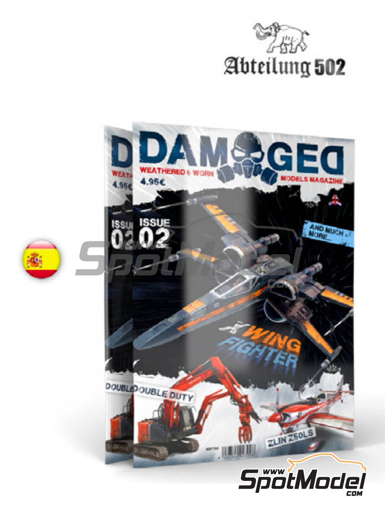 Damaged - Weathered and worn: Number 2 - spanish edition | Magazine manufactured by AK Interactive (ref. ABT704) image