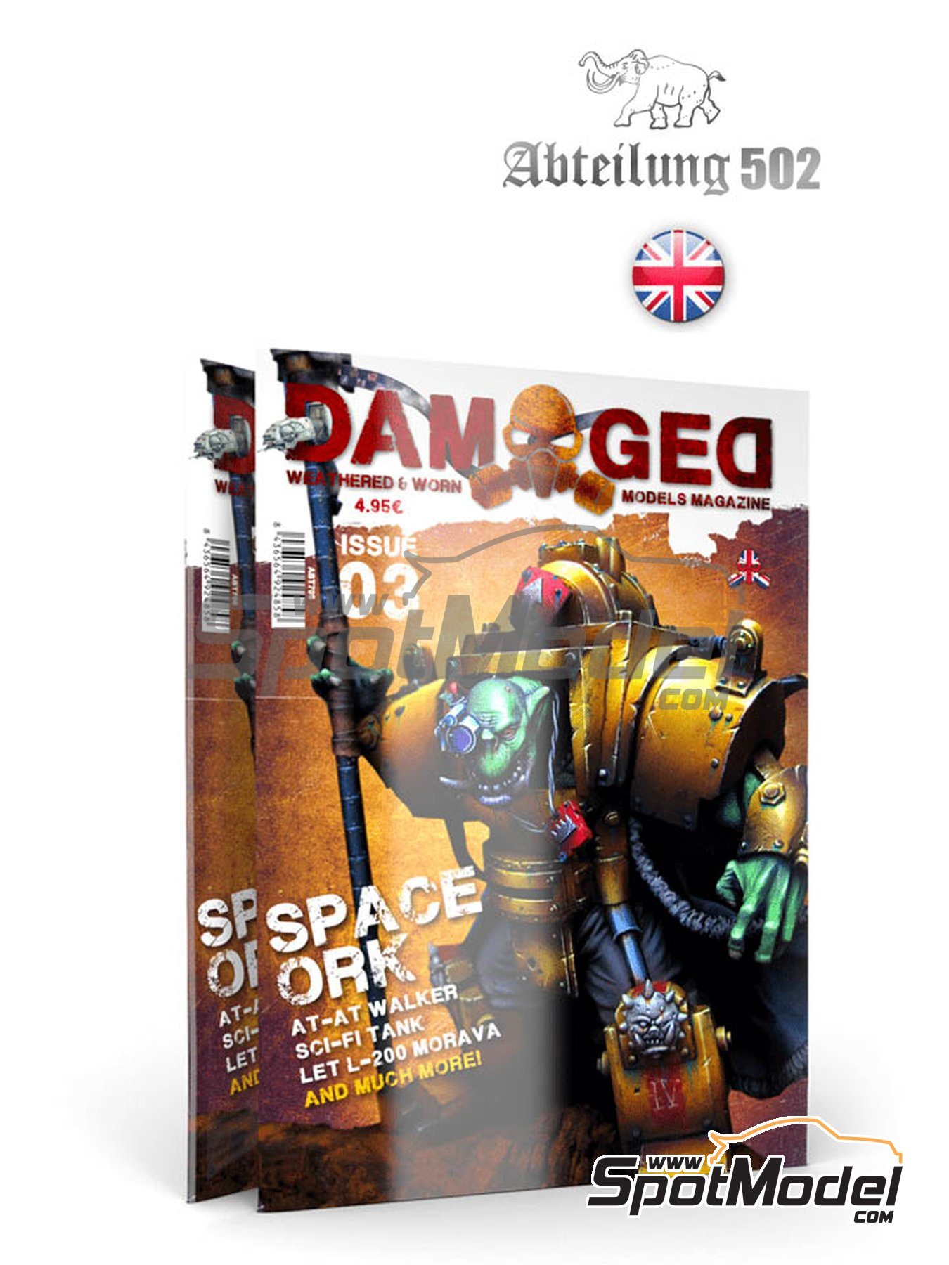 Damaged - Weathered and worn: Number 3 - english edition | Magazine manufactured by AK Interactive (ref. ABT705) image