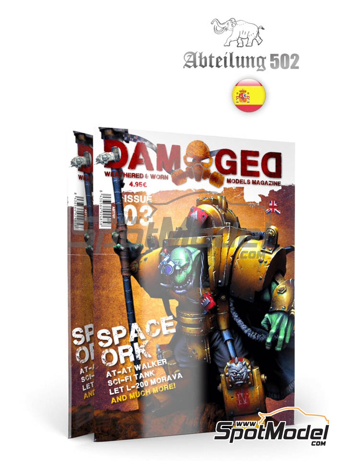 Damaged - Weathered and worn: Number 3 - spanish edition | Magazine manufactured by AK Interactive (ref. ABT706) image