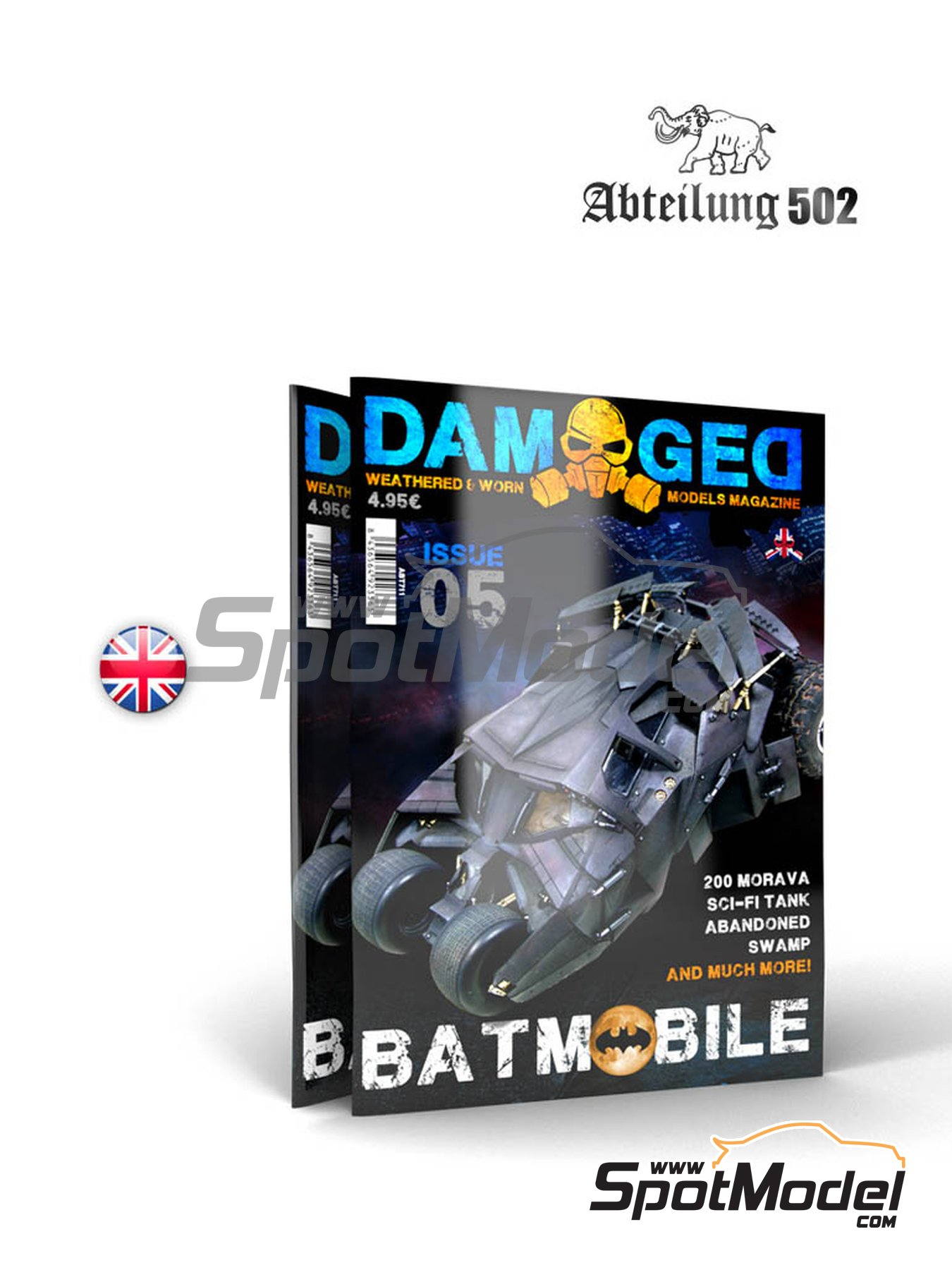Damaged - Weathered and worn: Number 5 - english edition | Magazine manufactured by AK Interactive (ref.ABT711) image