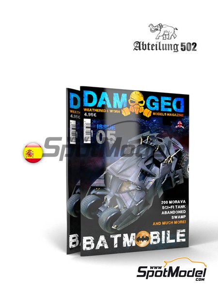 Damaged - Weathered and worn: Number 5 - spanish edition | Magazine manufactured by AK Interactive (ref. ABT712) image