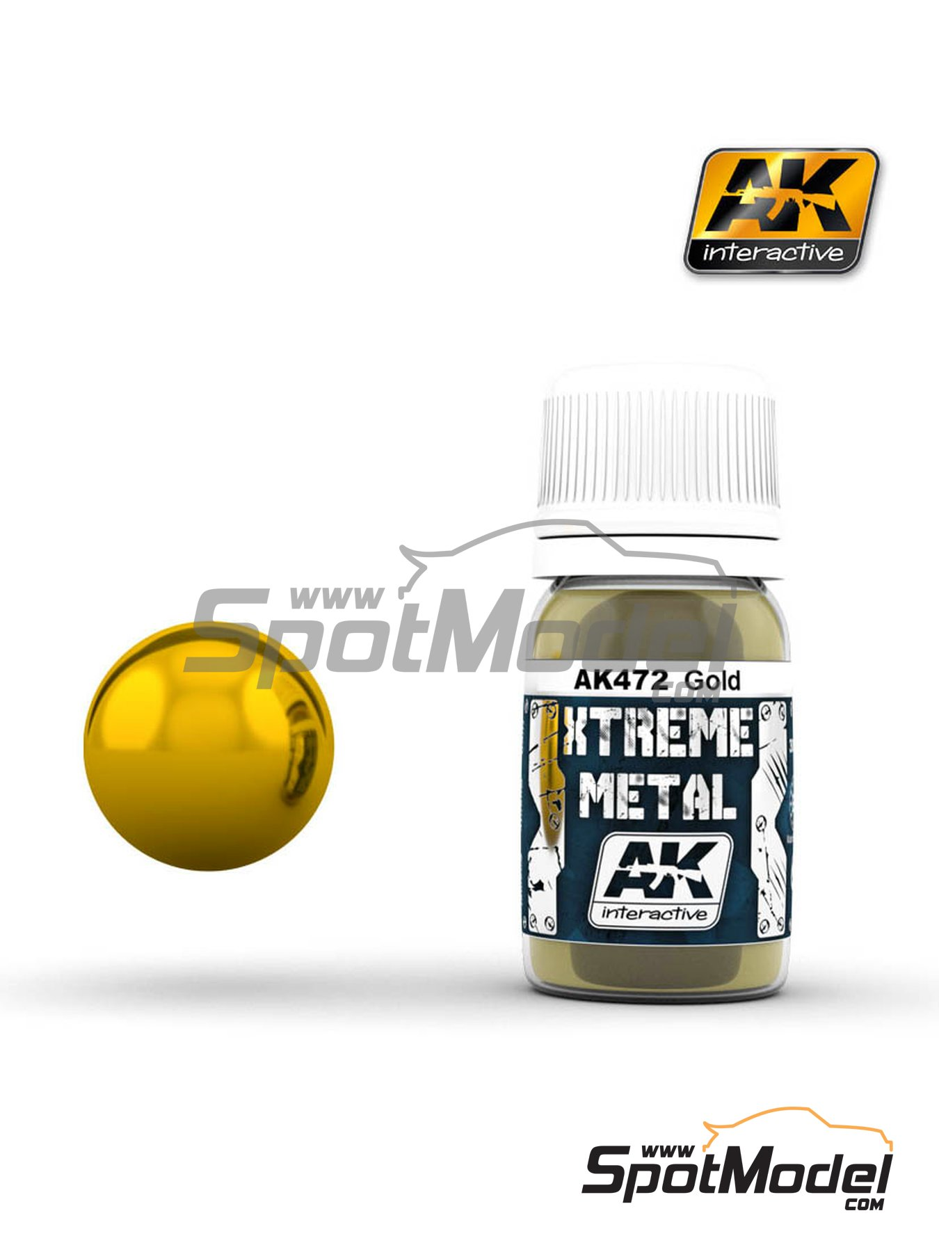 Gold | Xtreme metal paint manufactured by AK Interactive (ref.AK-472) image