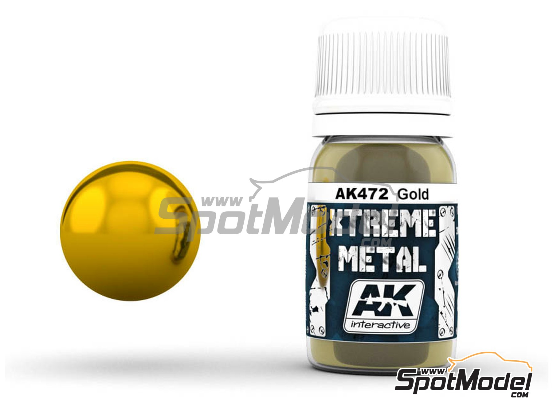 Image 1: Gold | Xtreme metal paint manufactured by AK Interactive (ref.AK-472)